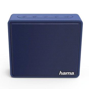 Тонколона Hama Pocket, 1.0, 3W, Bluetooth, 3.5mm Jack, microUSB, MicroSD Card, синя, 800mAh image