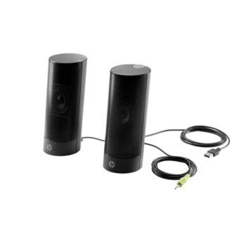 Тонколони HP Business Speakers v2, 2.0, 4W RMS, 3.5mm jack, черни image