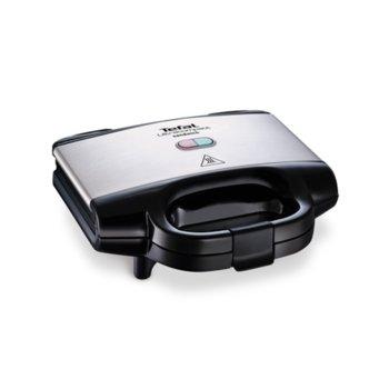 Сандвич скара Tefal SM157236, 700W, до 4 сандвича, LED индикатор, инокс/черна image