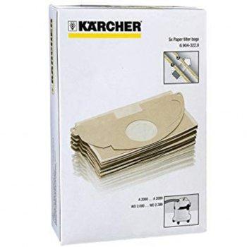 Торбички за прахосмукачка Karcher 6.904-322, за модели WD 2 и MV 2**, 5бр image