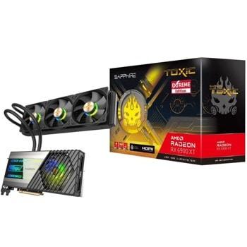 Видео карта AMD Radeon RX 6900 XT GAMING OC, 16GB, Sapphire Toxic, PCI-E 4.0, GDDR6, 3x Displayport, HDMI image
