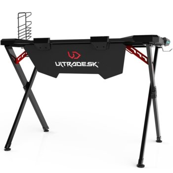 Компютърно бюро Ultradesk Action, микрофибърно покритие, гейминг, черно image