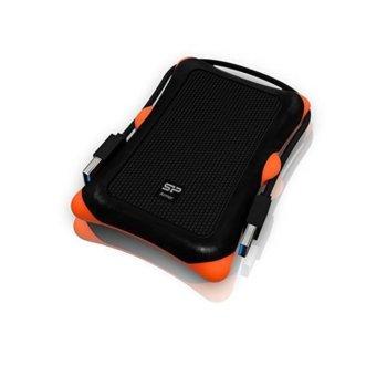 "Кутия 2.5""(6.35 cm) Silicon Power Armor A30 за 2.5"" (6.35 cm) SATA HDD/SSD до 2TB, USB 3.1, удароустойчива, черна image"