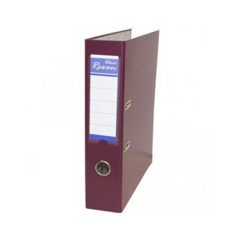 Класьор Rexon, за документи с формат до A4, дебелина 8см, бордо image