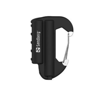 Външна батерия/power bank/ Sandberg SNB-420-44, 6000 mAh, черна, карабинер image