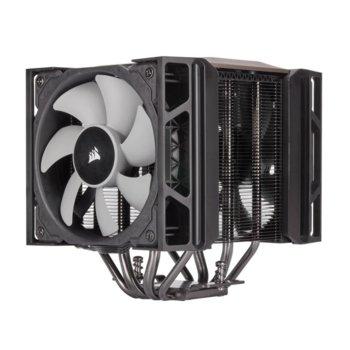 Охлаждане за процесор Corsair A500, съвместимост с Intel LGA 1150/1151/1155/1156/ 2011/2011-3/2066 & AMD AM4/ AM3/AM2, 2x ML120 image
