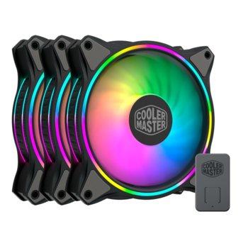 Вентилатор Cooler Master MasterFan MF120 Halo ARGB 3in1 (MFL-B2DN-183PA-R1), 4-pin, 1800 RPM, RGB подсветка image