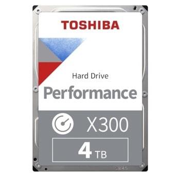 """Твърд диск 4TB Toshiba X300, SATA 6GB/s, 128MB, 7200 rpm, 3.5""""(8.89 cm) image"""