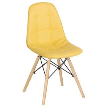 Трапезен стол Carmen 9962, лимонено жълт image