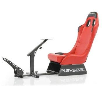 Геймърски стол Playseat Evolution Red Edition, кожен, червен image