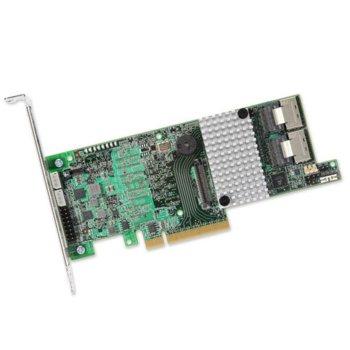 RAID Контролер LSI MegaRAID SAS 9271-8i, PCI-E 3.0 към 2x Mini-SAS (SFF8087), SATA/SAS 6Gb/s, 2 портов, 1GB RAM, поддържа RAID 0, 1, 5, 6, 10, 50, and 60 image