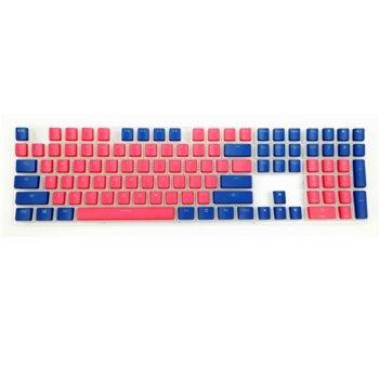 Капачки за механична клавиатура Ducky Pudding Red & Blue 108-Keycap Set PBT Double-Shot US Layout image