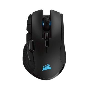 Мишка Corsair IronClaw RGB, оптична (18000 dpi), безжична, Bluetooth, USB, геймърска, черни image