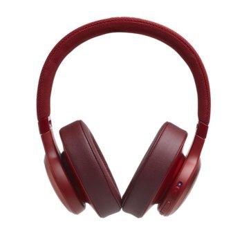 Слушалки JBL LIVE 500BT, безжични, микрофон, до 33 часа работа, червени image