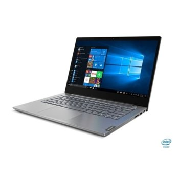 "Лаптоп Lenovo ThinkBook 14 IIL (20SL003RBM/2)(сив), двуядрен Ice Lake Intel Core i3-1005G1 1.2/3.4 GHz, 14.0"" (35.56 cm) Full HD IPS Anti-Glare Display, (HDMI), 4GB DDR4, 256GB SSD, 1x USB 3.1 Type C, Windows 10 Pro image"