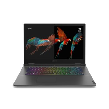 "Лаптоп Lenovo Legion Y740-17IRHg (81UJ006MBM), шестядрен Coffee Lake Intel Core i7-9750H 2.6/4.5 GHz, 17.3"" (43.94 cm) Full HD IPS 144Hz Display & RTX 2080 Max-Q 8GB, (mDP), 16GB DDR4, 1TB SSD, 1x Thunderbolt 3, Free DOS image"