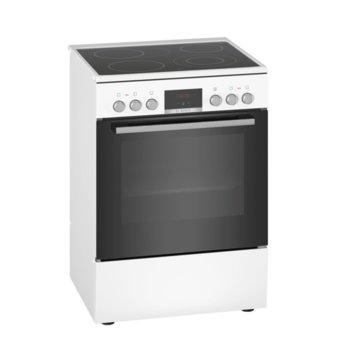Готварска печка Bosch HKR39C220, клас А, 4 нагревателни зони, 66 л. обем на фурната, EcoClean покритие, LED-Display, 7 начина на нагряване, бяла  image