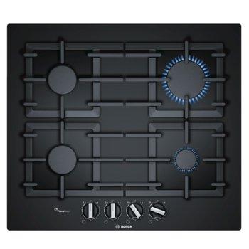 Газов плот за вграждане Bosch PPP6A6B90, 4 нагревателни зони, FlameSelect, термоелектрическо запалване, черен image