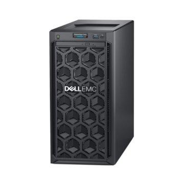 Сървър Dell PowerEdge T140 (#DELL02411), четириядрен Coffee Lake Intel Core i3 8100 3.60 GHz, 8GB DDR4 UDIMM, 2x 1000GB HDD, 1x GbE LOM, 3x USB 3.0, без ОС, 365W PSU  image