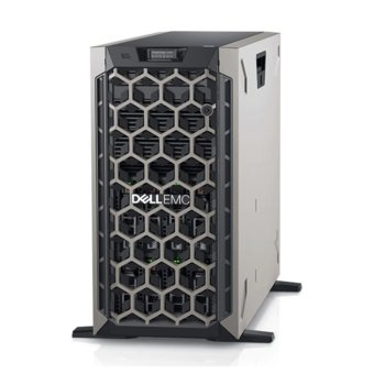 Сървър Dell PowerEdge T440 (PET44003_VSP), десетядрен Cascade Lake Intel Xeon Silver 4210 2.2/3.2 GHz, 16GB DDR4, 600GB HDD, 2x 1GbE, без ОС, 495W PSU image