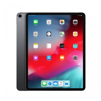 "Таблет Apple iPad Pro (2018)(MTHV2HC/A)(сив), LTE, 12.9"" (32.76 cm) Liquid Retina дисплей, осемядрен A12X Bionic, 6GB RAM, 256GB Flash памет, 12.0 & 7.0 MPix камера, iOS 12, 633g image"