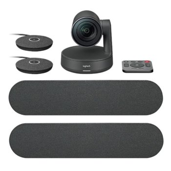 Конферентна камера Logitech Rally Plus Ultra-HD ConferenceCam, 4K/UHD, вграден микрофон, управляема (PTZ), LAN, HDMI, USB image