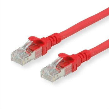 Пач кабел Roline 21.15.1491, UTP, Cat. 6a, 1.5m, червен image