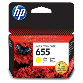 ГЛАВА HEWLETT PACKARD Deskjet ink advantage 3525/4615/4625/5522/6525 - Yellow - (655) - P№ CZ112AE - заб.: 600p image