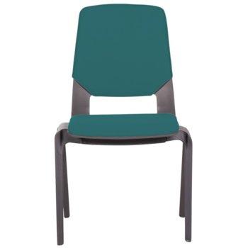 Посетителски стол Carmen Limber, полипропилен, до 130кг, морско син image
