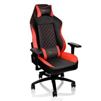 """Геймърски стол Ttesports GT Comfort, регулируеми подлакътници, до 160° регулация на облегалката, 3"""" Caster колела, до 150кг, черен-червен image"""