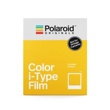 Фотохартия Polaroid Originals Color Film for i-Type, 4.2 x 3.5 inch, за Polaroid i-Type Cameras, 8 листа image