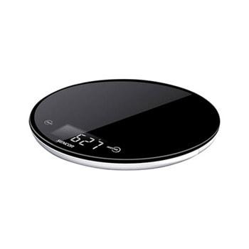 Кухненски кантар Sencor SKS 5300, дигитален, до 5 кг, точност до 1гр, LCD дисплей, закалено предпазно стъкло, черен image