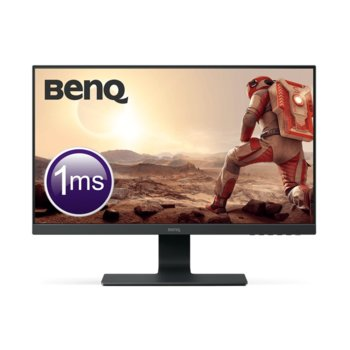 "Монитор BenQ GL2580H (9H.LGFLA.TPE), 24.5"" (62.23 cm) TN панел, Full HD, 1ms, 250cd/m2, HDMI, DVI, VGA image"