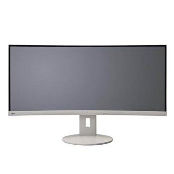"""Монитор Fujitsu B34-9 UE (B349UDXMG1EU), 34"""" (86.3 cm) IPS Curved панел, QHD, 5 ms, 20000000:1, 300 cd/m2, DisplayPort, HDMI, USB image"""