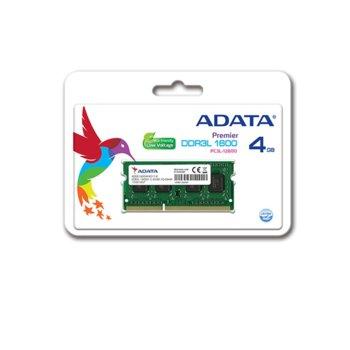 Памет 4GB DDR3L 1600MHz, A-Data Premier ADDS1600W4G11-B, SODIMM, 1.35V image