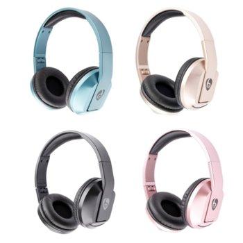 Слушалки Ovleng S77, безжични, микрофон, SD, FM, Различни цветове image