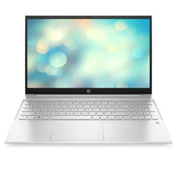 "Лаптоп HP Pavilion Laptop 15-eh0038nu (33H52EA), шестядрен AMD Ryzen 5 4500U 2.3/4.0GHz, 15.6"" (39.62 cm) Full HD Anti-Glare Display (HDMI), 8GB DDR4 3200MHz, 512GB NVMe SSD, 1x USB 3.2 (Gen 2x1, Type-C), FreeDOS, 1.75kg image"
