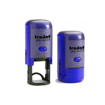 Автоматичен печат Trodat Printy 46019 син, Ф19 mm, кръгъл image
