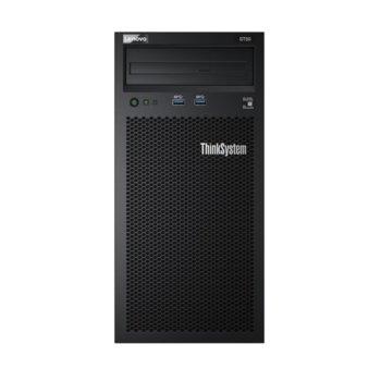 Сървър Lenovo ThinkSystem ST50 (7Y49A03XEA), четириядрен Coffee Lake Intel Xeon E-2224G 3.5/4.7 GHz, 8GB DDR4, 2x 1TB HDD, 1x 1GbE, No OS, 1x 250W image