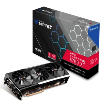 Видео карта AMD Radeon RX 5700 XT, 8GB, Sapphire NITRO+, PCI-E 4.0, GDDR6, 256bit, Display Port, HDMI image