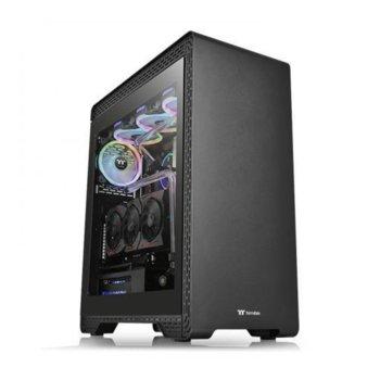 Кутия Thermaltake S500 TG, ATX/Micro ATX/Mini ITX, 2x USB 3.0, 2x USB 2.0, закалено стъкло, черна, без захранване image