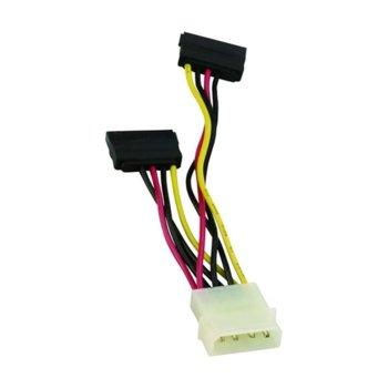 Захранващ SATA кабел, двоен, 0.15m (CE352) image
