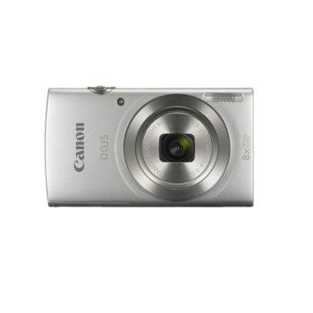 """Фотоапарат Canon IXUS 185(сребрист), 8x оптично увеличение, 20 Mpix, 2.7"""" (6.8 cm) LCD дисплей, USB mini(TypeB), SDXC слот image"""