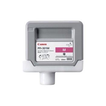 Мастило за Canon iPF8000 and iPF9000 - Magenta - 1488B001 - Ink Tank PFI-301 - 330ml image