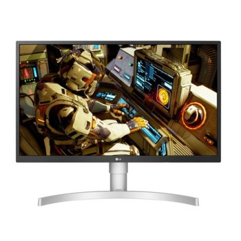 "Монитор LG 27UL550-W, 27"" (68.58 cm) IPS панел, UHD/4K, 5ms, 300cd/m2, DisplayPort, HDMI, USB Type C image"