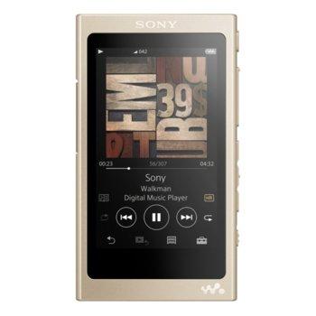 MP3 плейър Sony NW-A45, 16GB, Hi-Res Audio, 7.8cm дисплей, NFC/Bluetooth, златист image