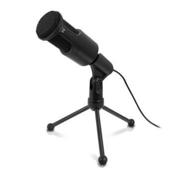Микрофон Ewent EW3552, филтър за шум, 3.5mm жак, 2.0m кабел, черен image