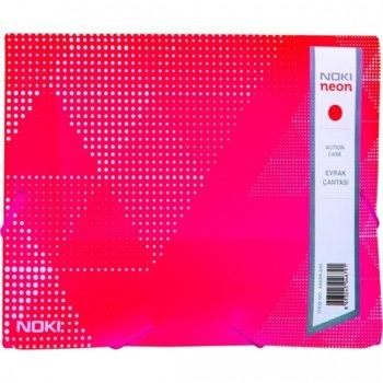 Папка PVC, с ластик, Noki, neon розов image