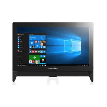 "Настолен компютър Lenovo IdeaCentre AIO C20-00 (F0BB00TGBH), 19.5"" (49.53), HD Led (HDMI), четири-ядрен Braswell Intel Core J3710 1.6/2.64GHz, 4GB, 1TB 7200rpm, 4x USB 3.0, Free Dos image"