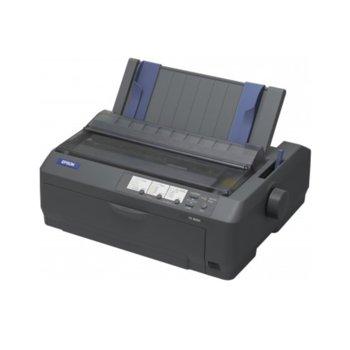 Матричен принтер Epson FX-890A, 125 chars/s, 128kB Included, Bidirectional parallel, USB, 1г.  image
